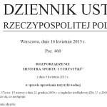 Rozporządzenie w sprawie uprawiania turystyki wodnej