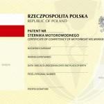 Patent Sternika Motorowodnego